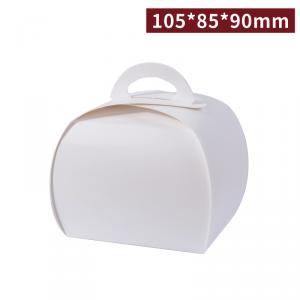 《受注生産》 BA10504【ケーキ箱/カフェ用キャリーボックス - 白】105*80*90mm  - 1箱700個