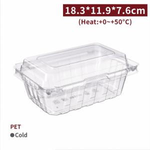 《受注生産》BS18301【サラダ・フルーツ容器 - PET 】18.3*11.9*7.6cm - 1箱400個