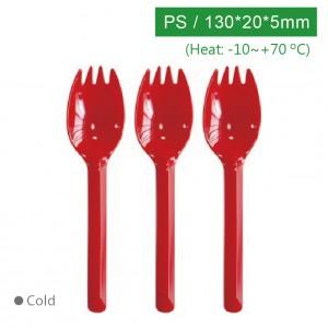 KI13506【130フォークスプーン-赤】PS 130*22*5mm - 1箱2000個