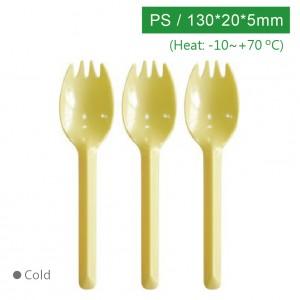 KI13505【130スプーンフォーク-黃色】PS 130*20*5mm - 1箱2000個